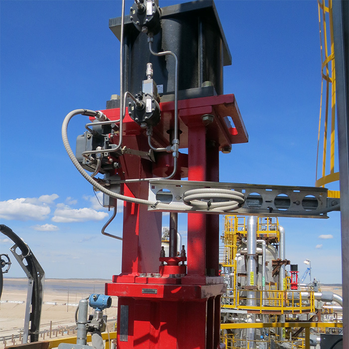 SlurryFlo valves excel in controlling abrasive slurry flow.