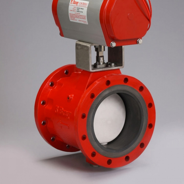 Bray butterfly-control-valve-slurry